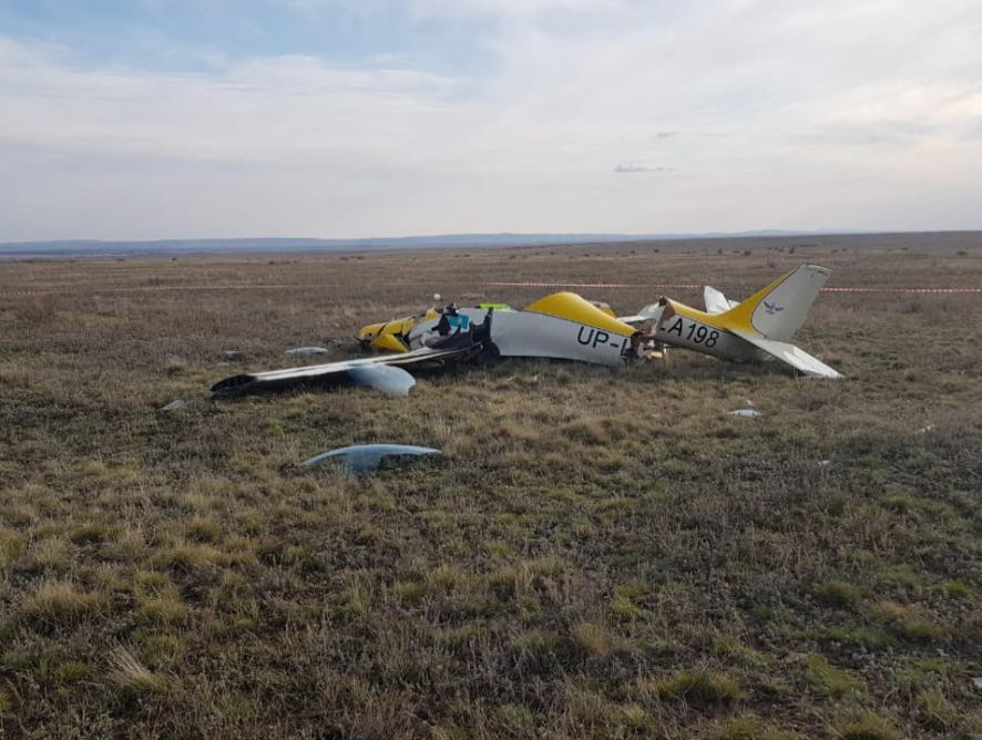 В Караганде разбился самолет