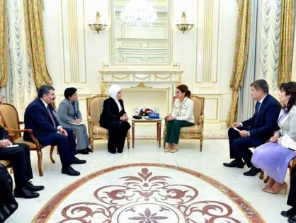 Дариға Назарбаева Түрік Республикасының бірінші ханымы Эмине Ердоғанмен кездесті
