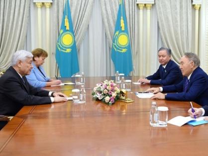 Елбасы Татарстан Мемлекеттік кеңесінің төрағасымен кездесті
