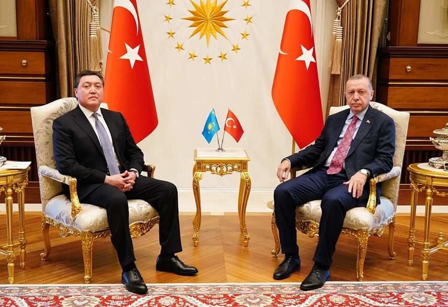 ҚР Премьер-Министрі Асқар Мамин Түркия президенті Режеп Тайып Ердоғанмен кездесті