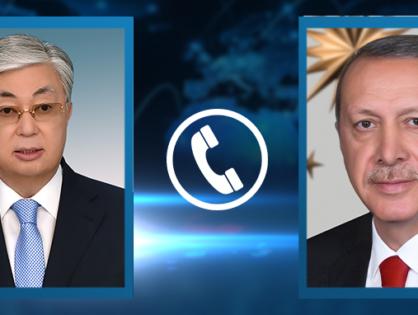 Состоялся телефонный разговор Касым-Жомарта Токаева с Президентом Турции Реджепом Тайипом Эрдоганом