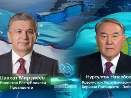 Президент Узбекистана провел телефонный разговор с Первым Президентом Казахстана