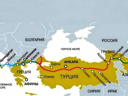 Баку - Тбилиси - Түркие - Италия газ құбыры іске қосылды!