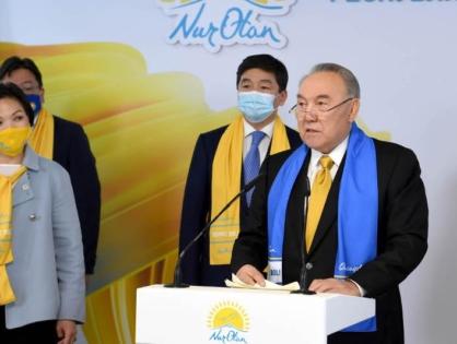 Нурсултан Назарбаев поздравил Nur Otan с победой на выборах