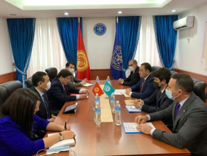 Türk Konseyi Heyeti Kırgız Cumhuriyetiı Dışişleri Bakanlığında Bir Toplantı Gerçekleştirdi