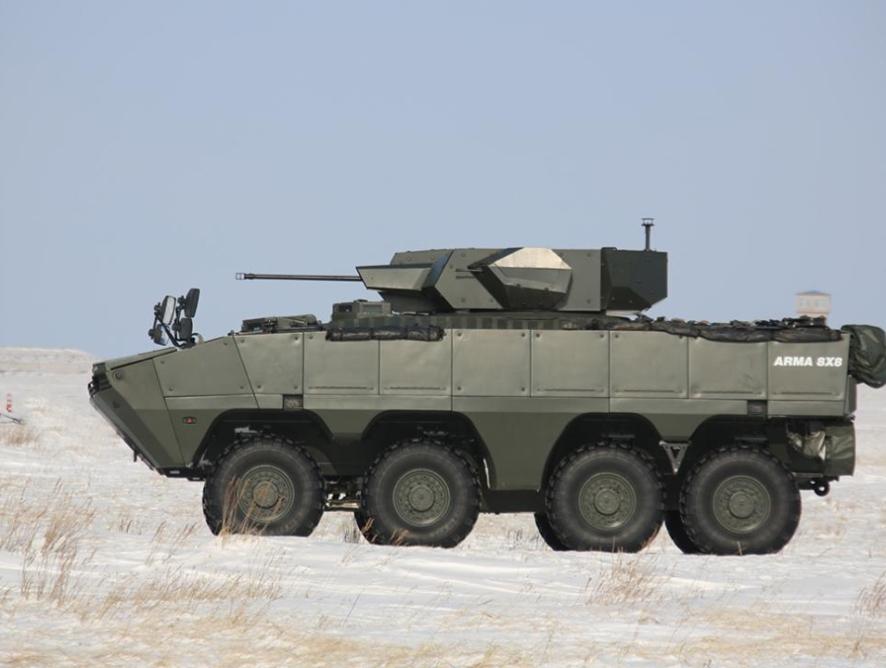 Қазақ әскері түріктердің ARMA-8x8 бронды машинасын сынап көрді