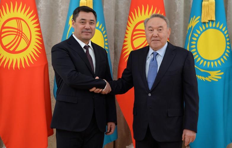 Президент Садыр Жапаров встретился с Первым Президентом Казахстана Нурсултаном Назарбаевым