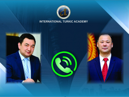 Türk Akademisi Başkanı Kırgızistan Dışişleri Bakanı ile Telefonda Görüştü
