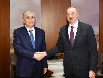Президент Азербайджанской Республики Ильхам Алиев позвонил Президенту Республики Казахстан Касым-Жомарту Токаеву