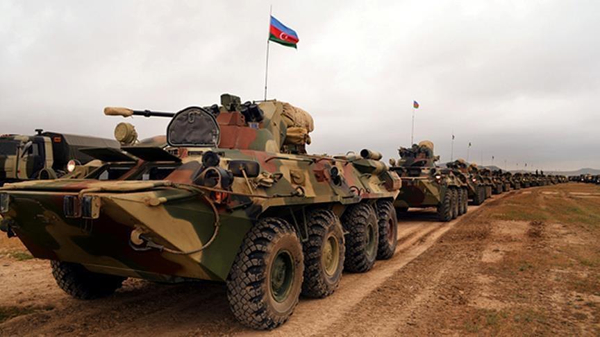 ВС Азербайджана начали учения с участием 15 тыс. военных